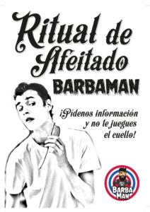 cartel ritual afeitado barbaman valencia
