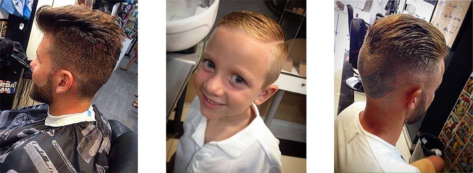 Diferentes cortes de cabello en BarbaMan peluqueria en valencia